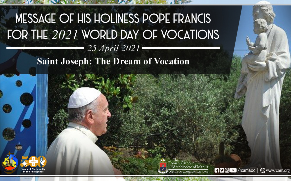 FULL TEXT   Message of His Holiness Pope Francis for the 2021 World Day of Vocations