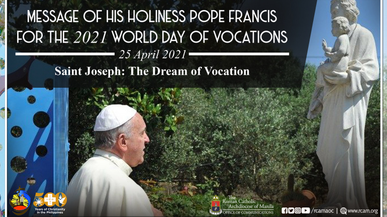 FULL TEXT | Message of His Holiness Pope Francis for the 2021 World Day of Vocations