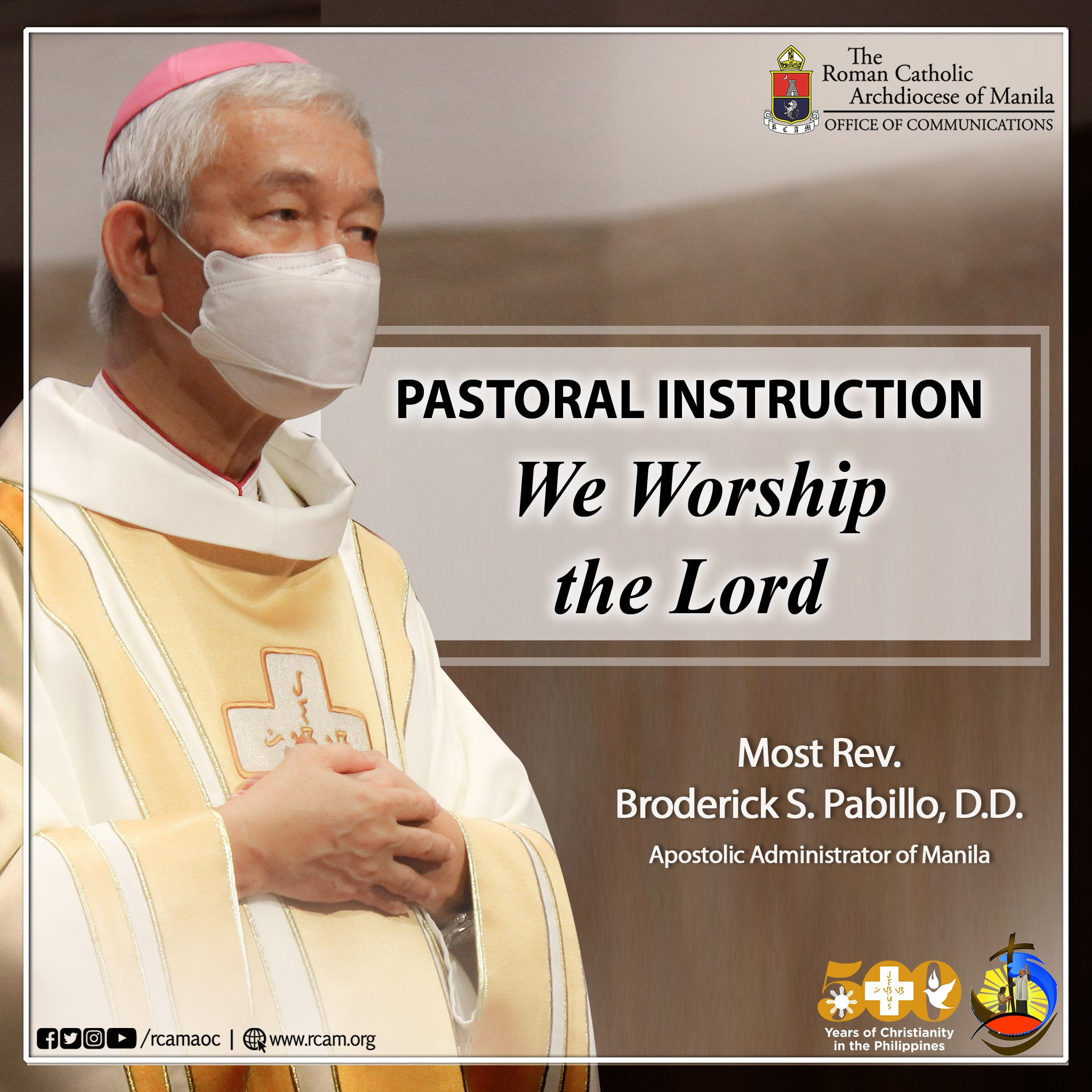 Pastoral Instruction: We Worship the Lord