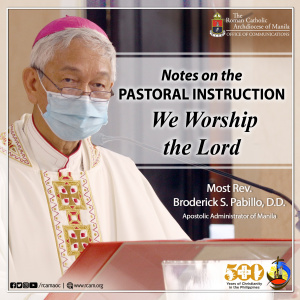 Notes on the Pastoral Instruction WE WORSHIP THE LORD