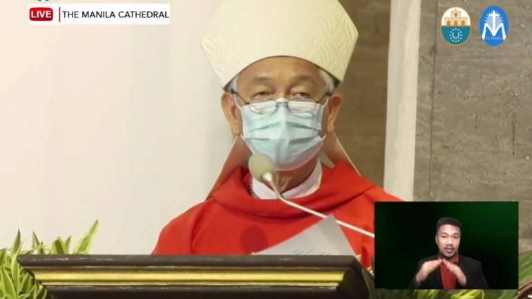 FULL TEXT | Homily of Bishop Broderick Pabillo during Palm Sunday Mass on March 28, 2021