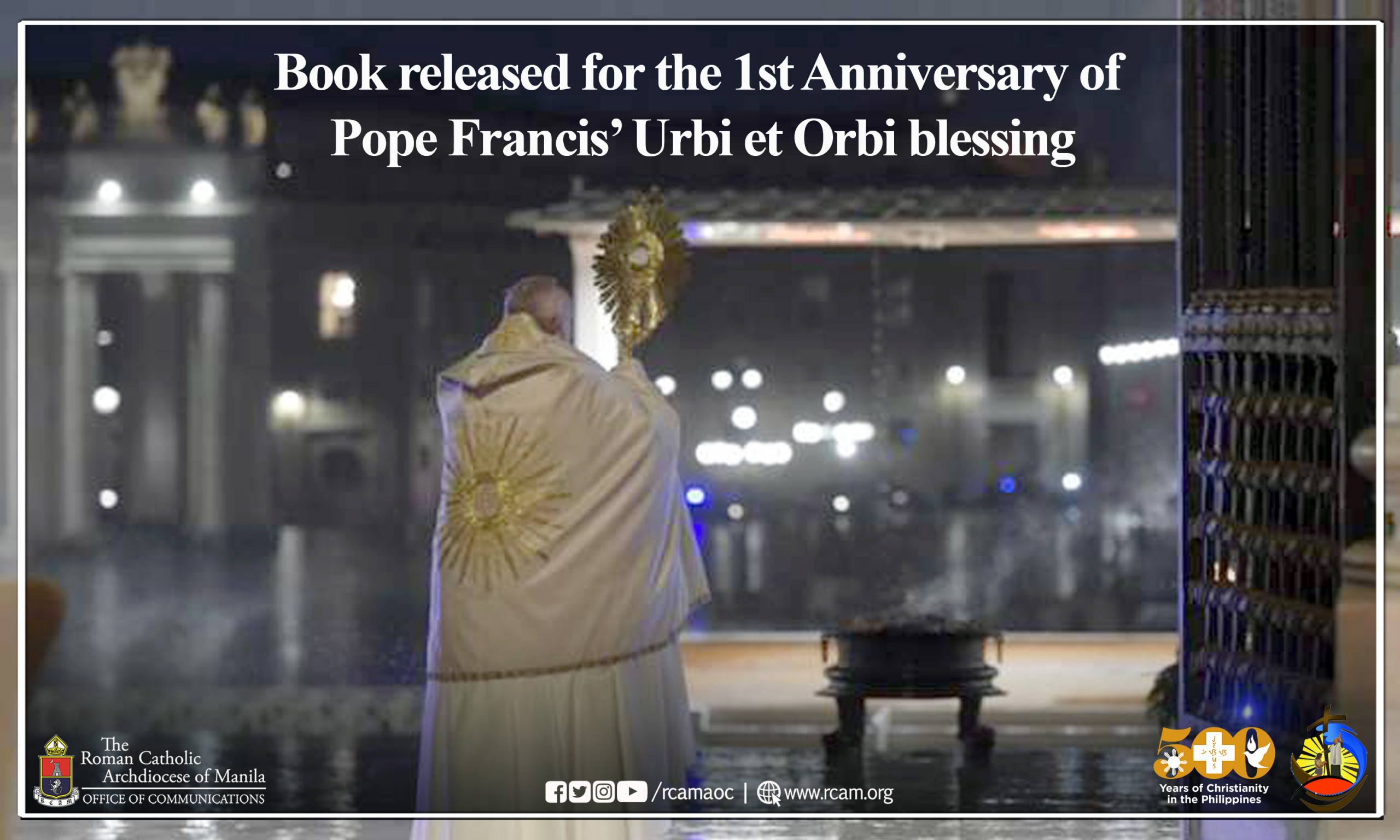Book released for the 1st Anniversary of Pope Francis' Urbi et Orbi blessing