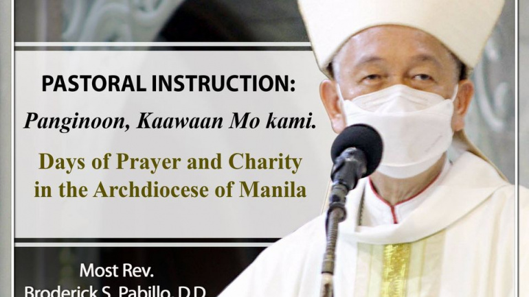 RCAM Pastoral Instruction: Panginoon, Kaawaan mo kami. Days of Prayer and Charity in the Archdiocese of Manila