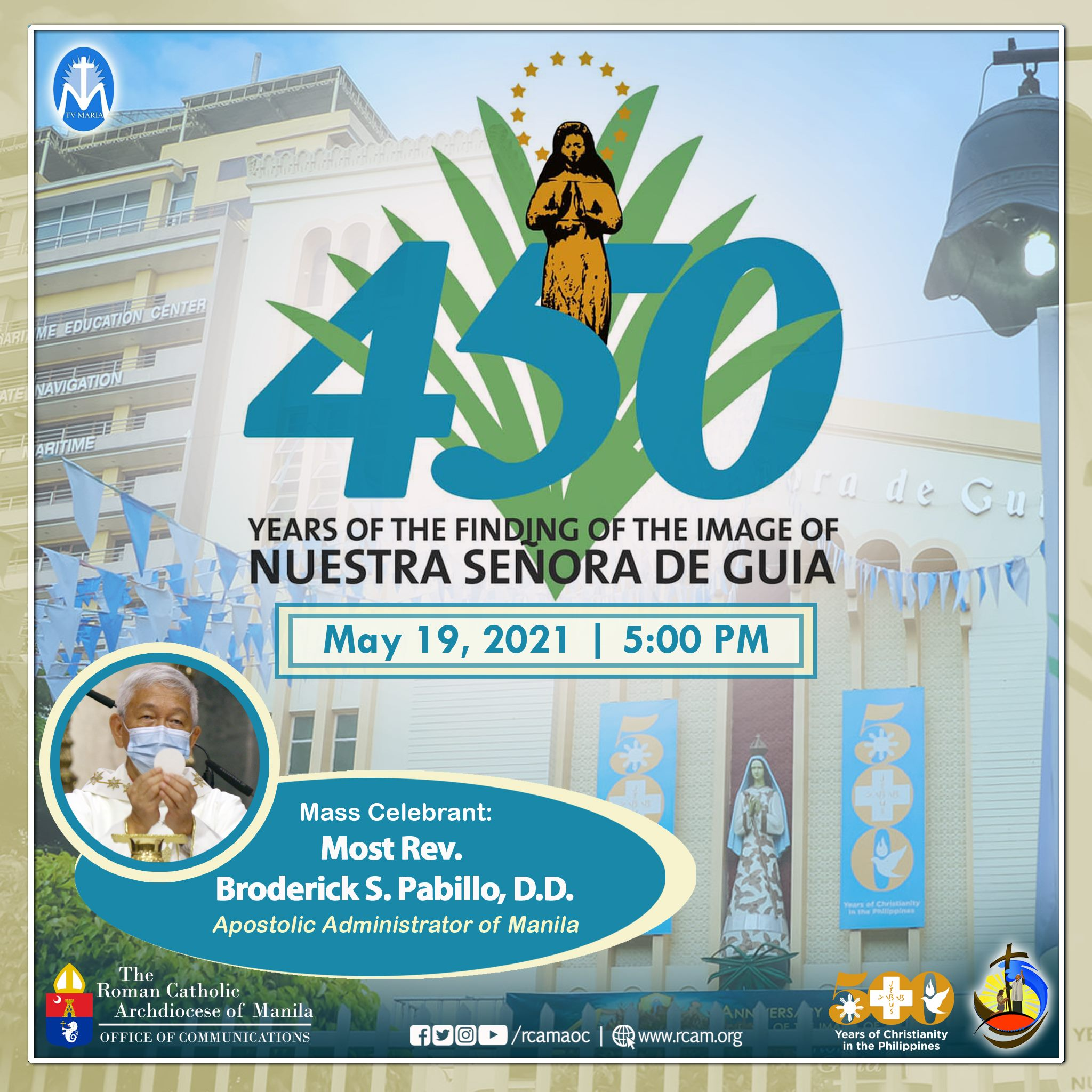450th anniversary of the finding of the image of Nuestra Senora De Guia