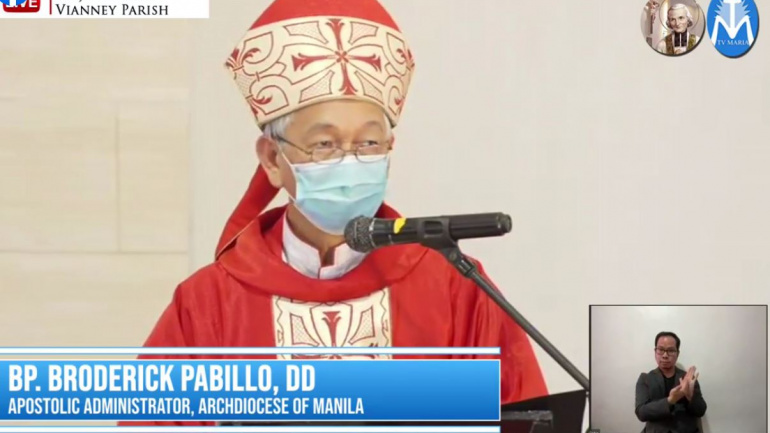 FULL TEXT   Homily of Bishop Broderick S. Pabillo, Apostolic Administrator of Manila during the online Pentecost Sunday Mass at St. John Mary Vianney Parish on May 23, 2021, at 10 am