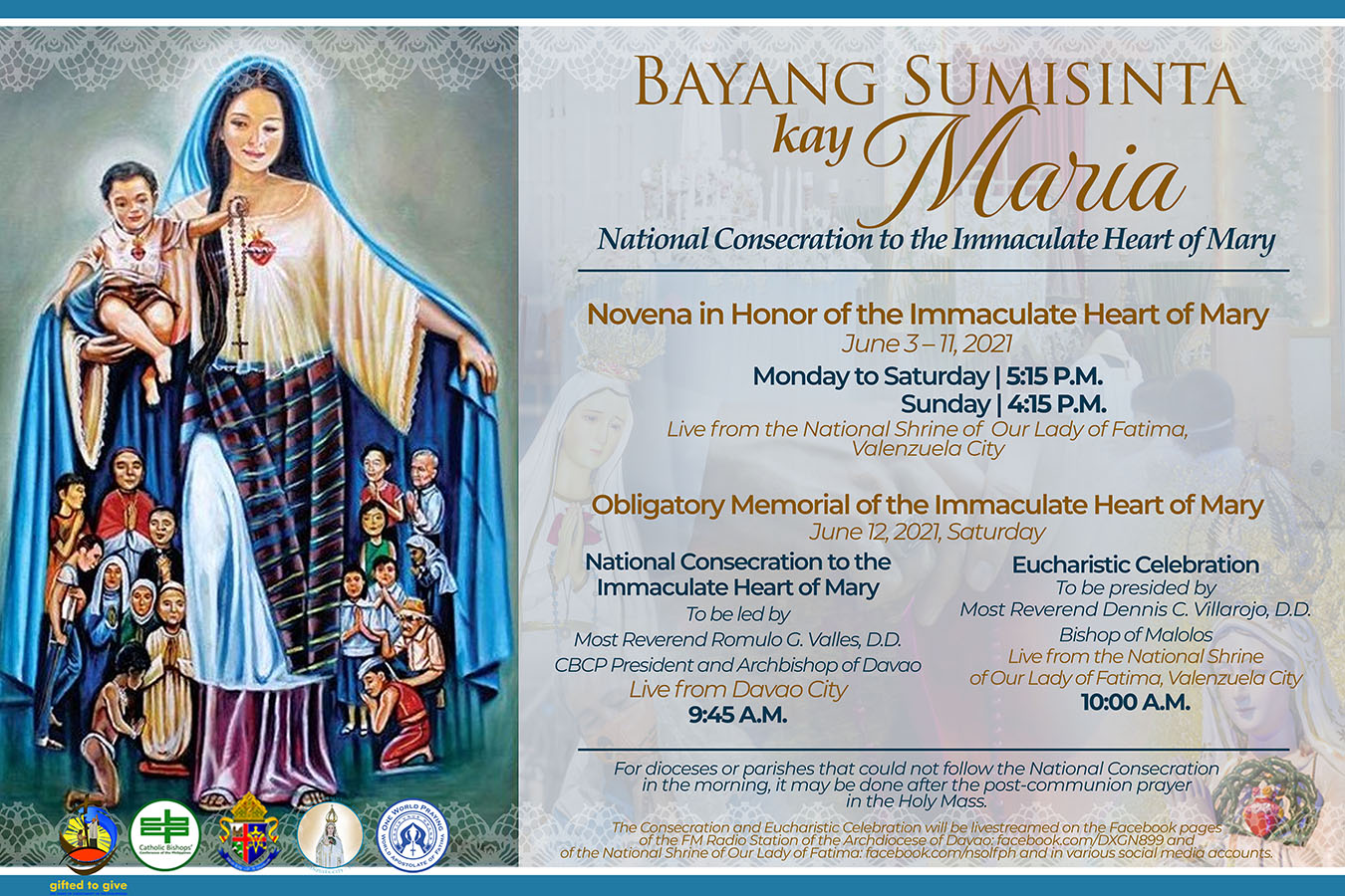 CBCP releases prayer for National Consecration to the Immaculate Heart of Mary