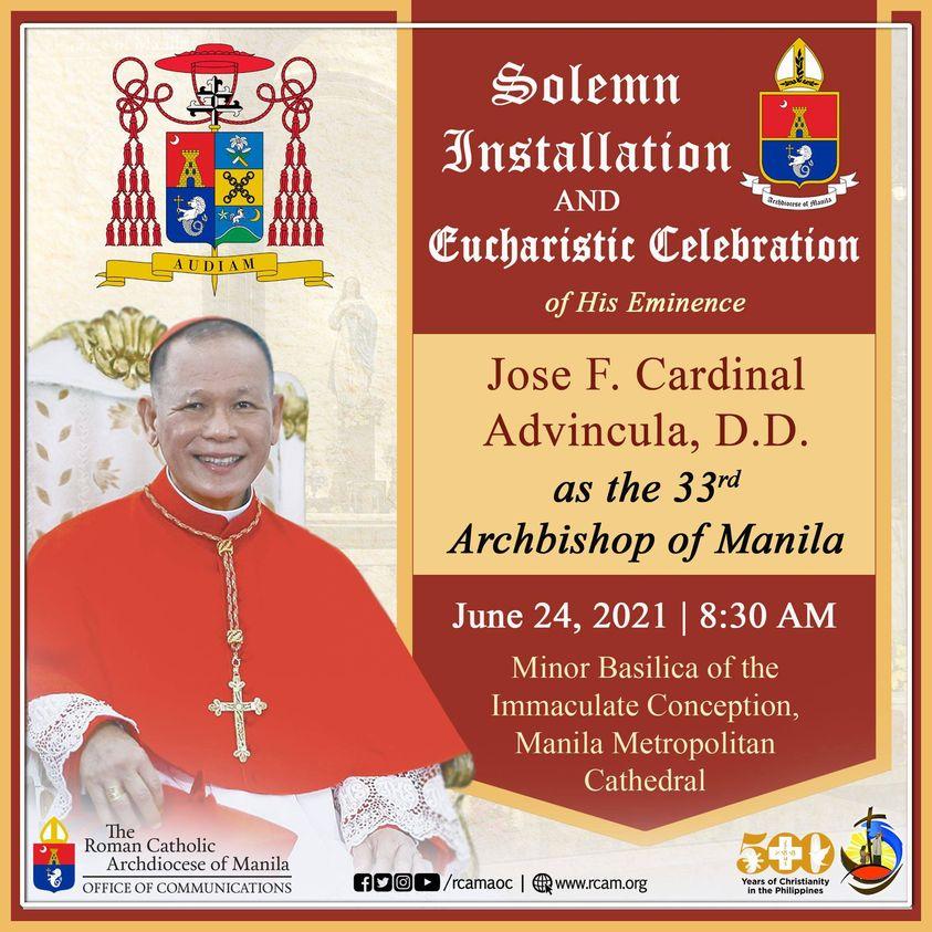 Installation of Jose Cardinal F. Advincula as Archbishop of Manila