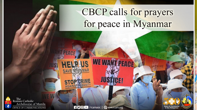 CBCP calls for prayers for peace in Myanmar