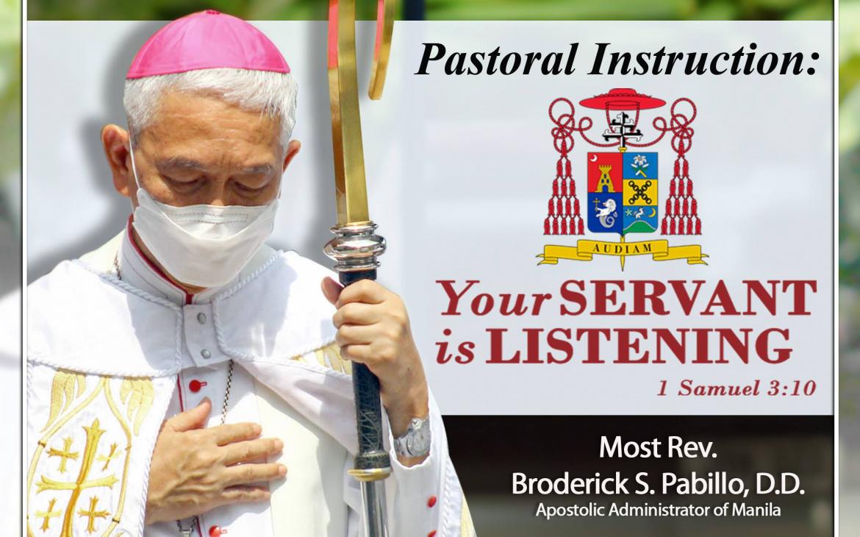 "PASTORAL INSTRUCTION  ""Your servant is listening"" (1 Sam. 3:10)"