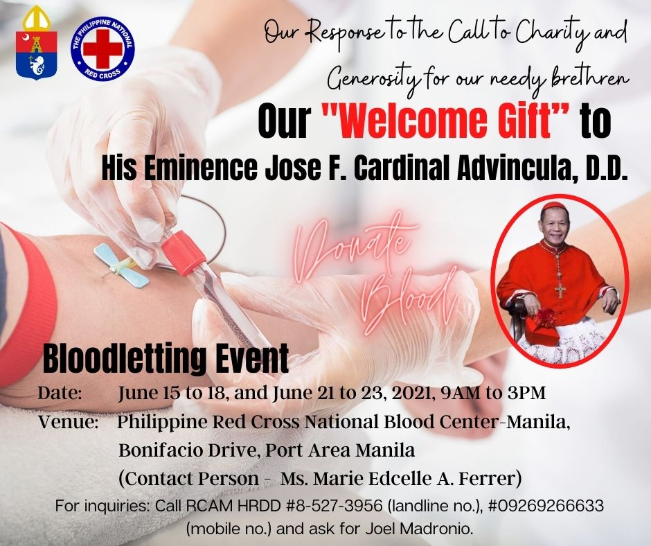 Archdiocese of Manila to hold Bloodletting