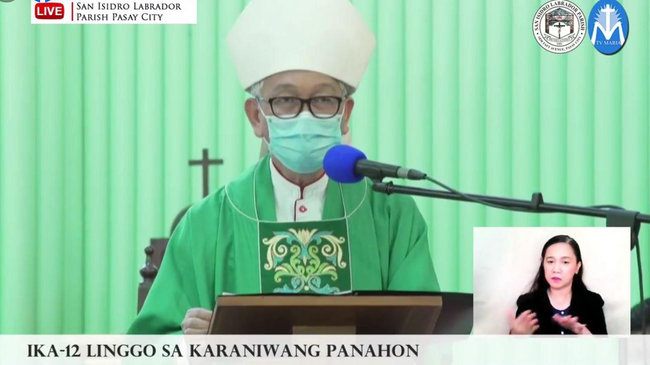 FULL TEXT | Homily of Bishop Broderick Pabillo, Apostolic Administrator of Manila during online Sunday Mass at San Isidro Labrador Parish in Pasay on June 20, 2021, at 10 am