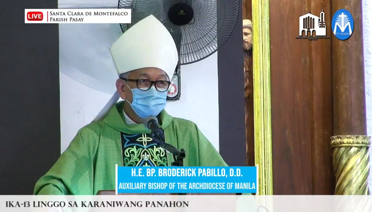 FULL-TEXT   Homily of Bishop Broderick S. Pabillo, Auxiliary Bishop of Manila during online Sunday Mass at Santa Clara de Montefalco Parish in Pasay on June 27, 2021, at 10 am