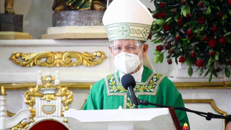 FULL TEXT   Homily of Jose F. Cardinal Advincula, Archbishop of Manila during Mass at the Mary, Comforter of the Afflicted Parish in Pasay on June 27, 2021, at 10 am