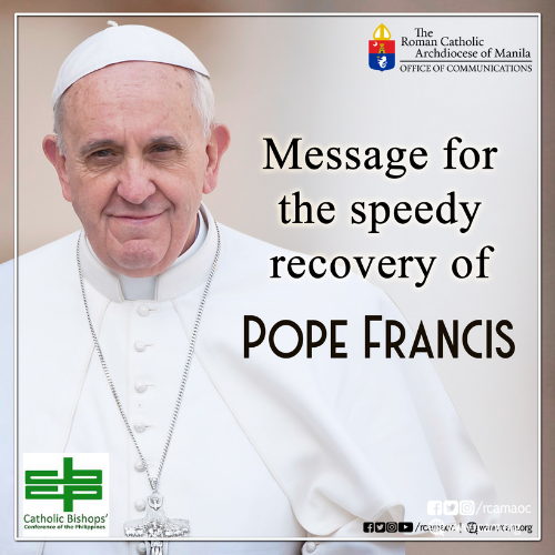 Message for the Speedy Recovery of Pope Francis