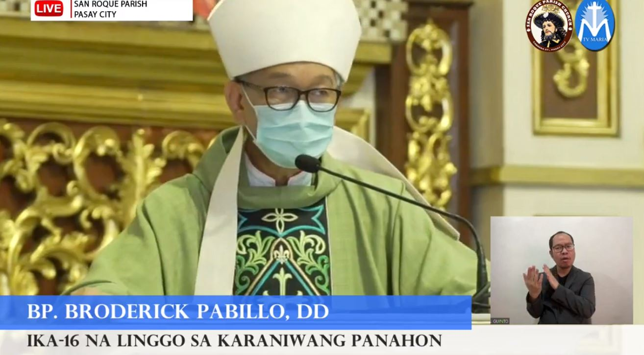 FULL TEXT | Homily of Bishop Broderick S.Pabillo, Bishop-elect of the Vicariate of Taytay, Palawan during the online Sunday Mass at the San Roque Parish in Pasay on July 18, 2021, at 10 a.m.