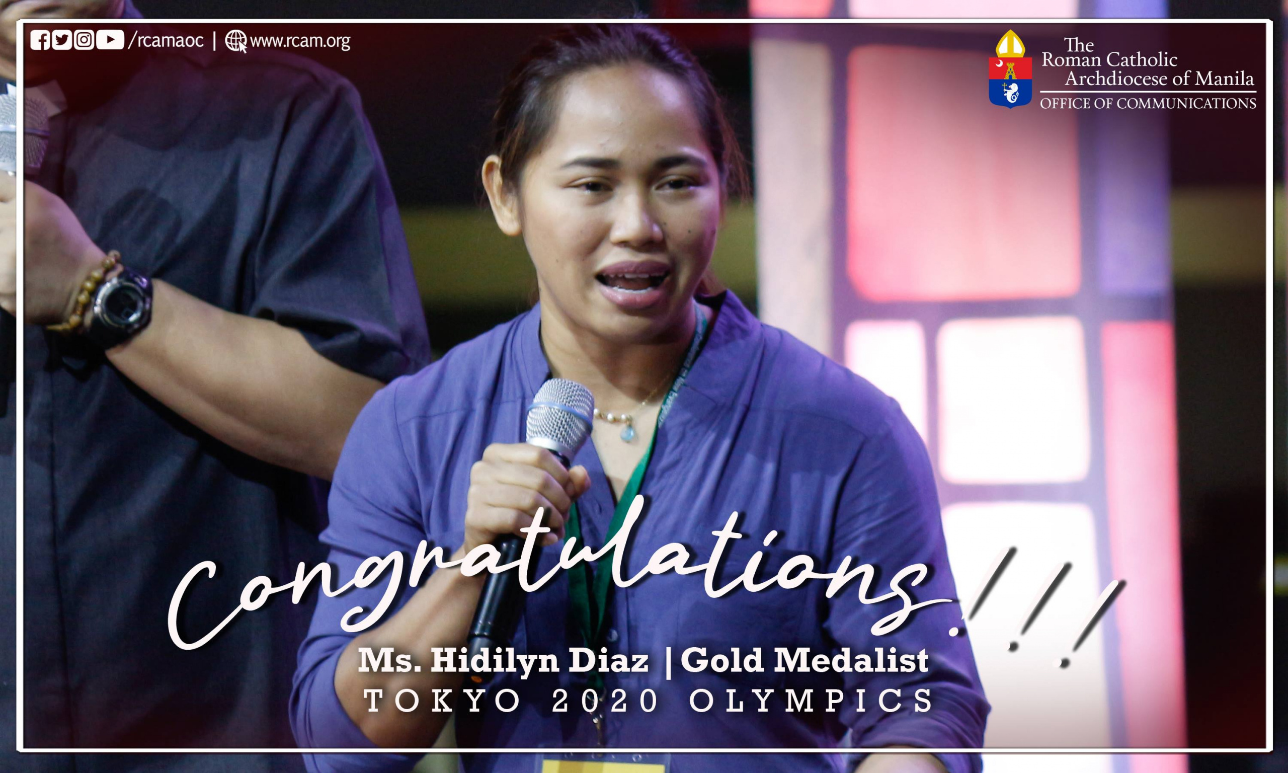 Archdiocese of Manila congratulates Hidilyn Diaz for first Olympic Gold Medal