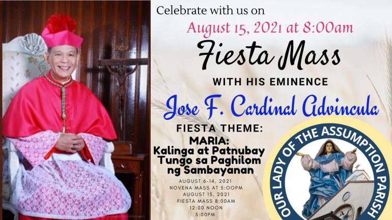 Our Lady of the Assumption Parish Fiesta Schedule