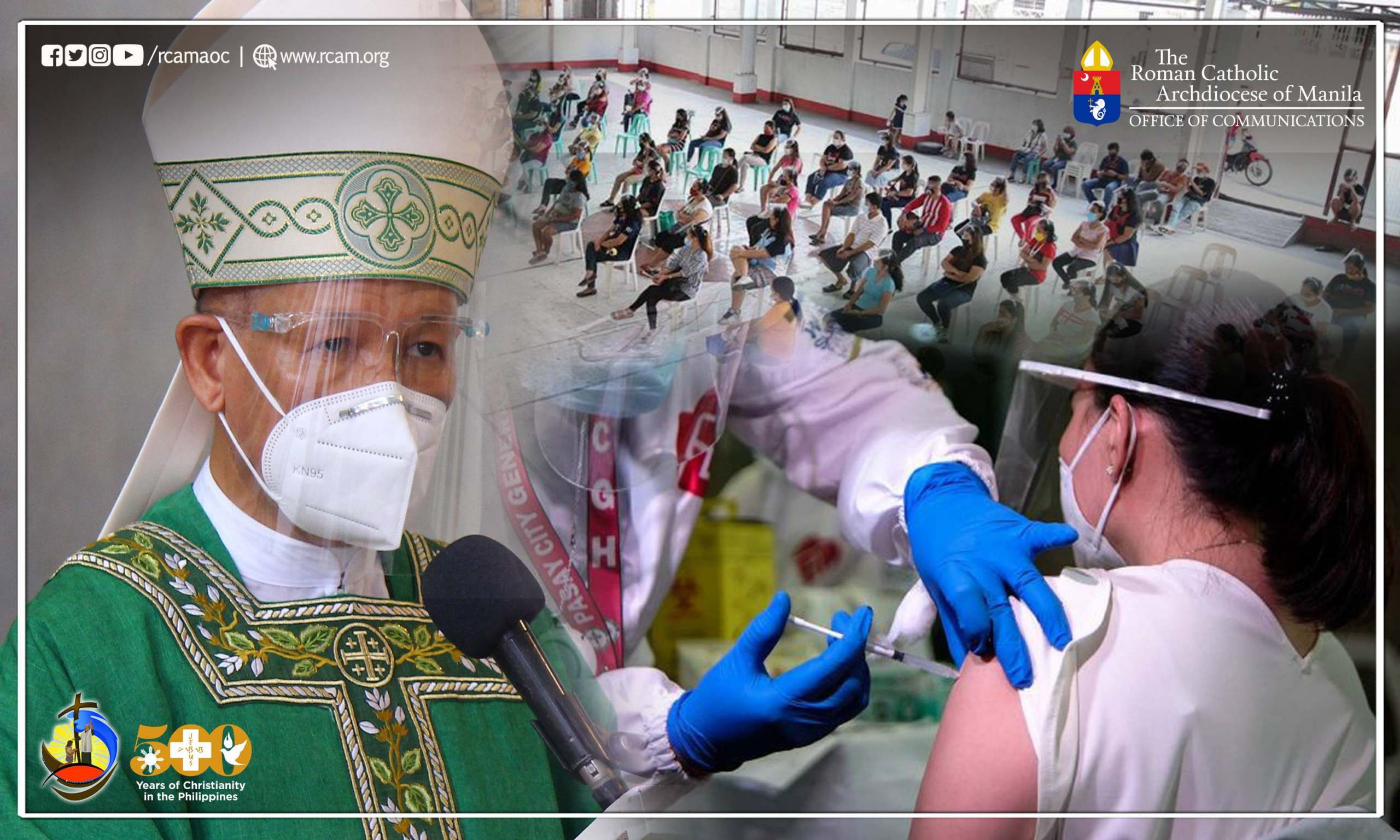 Archbishop Advincula encourages faithful to vaccination, follow strictly protocols