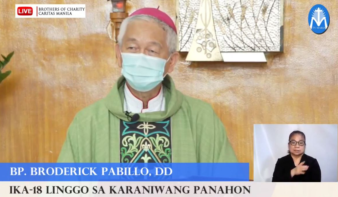 FULL TEXT | Homily of Bishop Broderick S. Pabillo, Bishop-elect of the Vicariate of Taytay, Palawan during online Sunday Mass at the Chapel of Brothers of Charity (Caritas Manila), Pandacan on August 1, 2021, at 10 a.m.