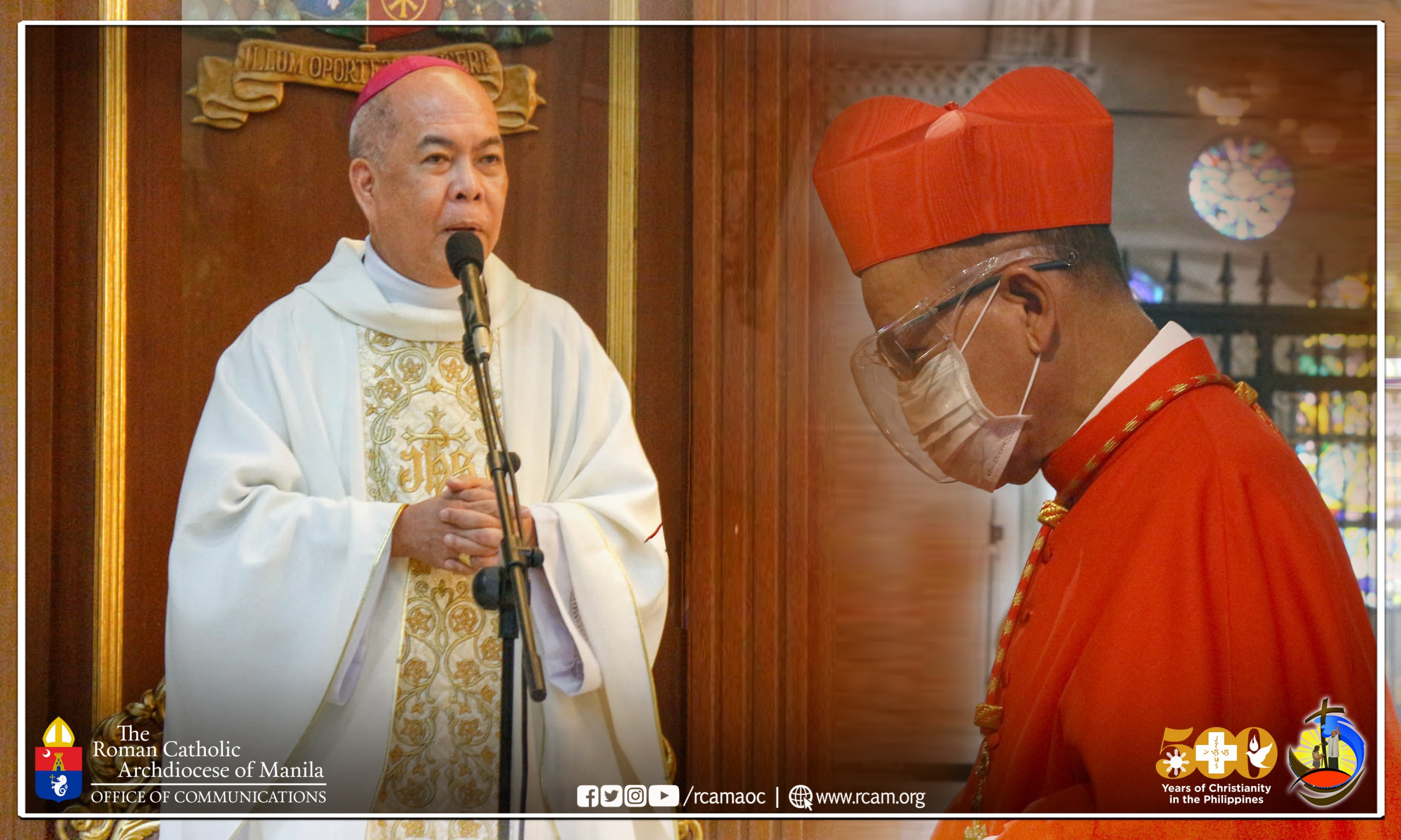 Archbishop Valles asks faithful to pray for Cardinal Advincula's recovery from COVID-19