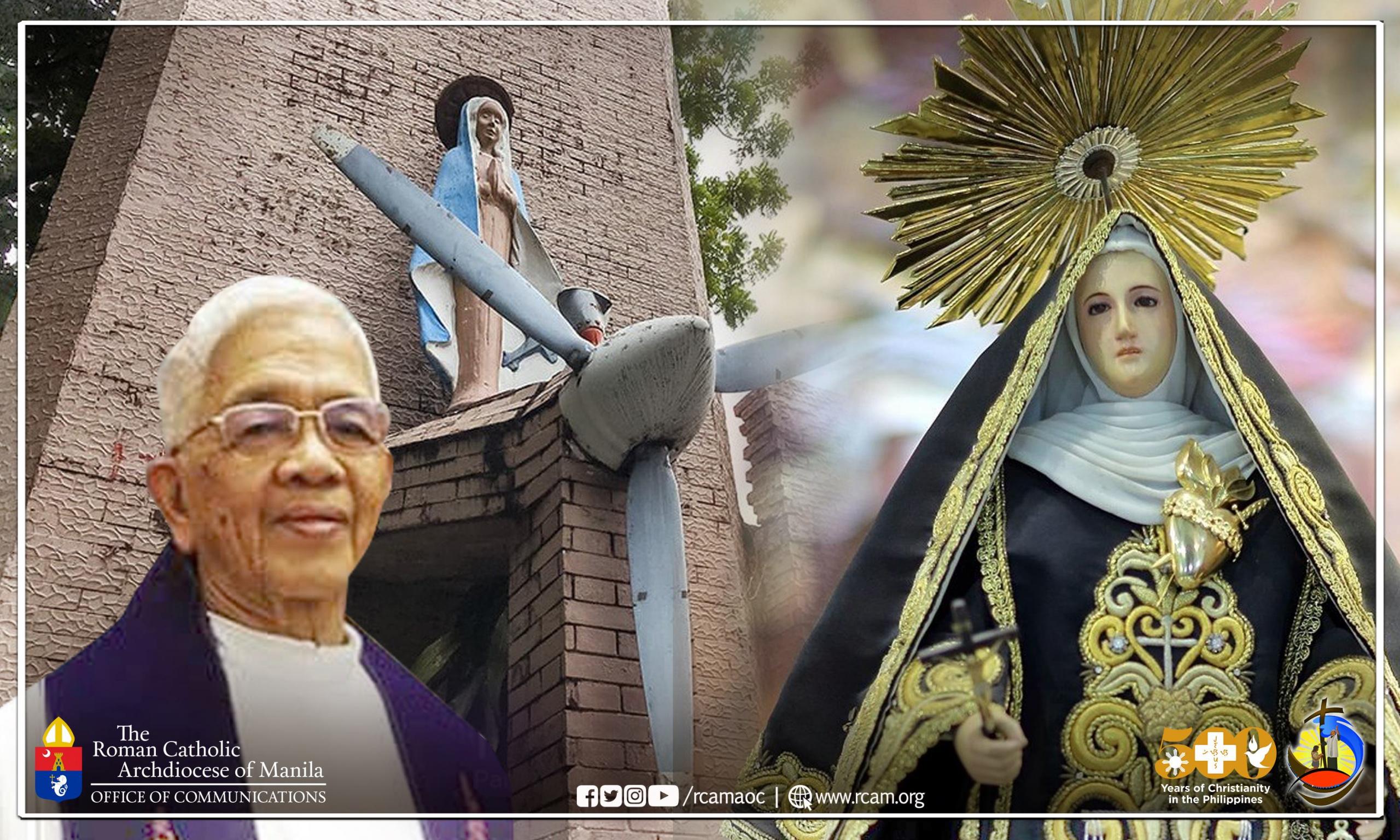 Message for the Passing of Msgr. Modesto Teston (Vicariate of Santa Clara de Montefalco-Pasay City)