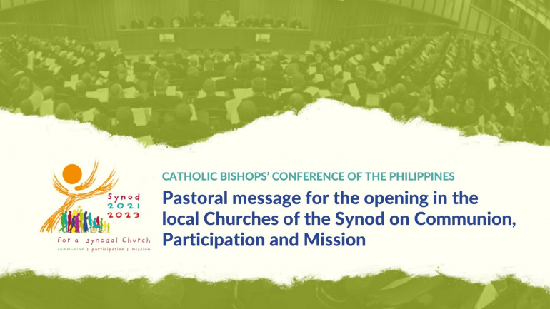Pastoral Message for the opening in the local Churches of the Synod on Communion, Participation and Mission